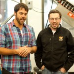 Matt Delamater and Luke Livingston talking beer