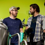 Brewer Mark Fulton and Matt Delamater talk about brewing beer at Maine Beer Company