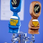 Handmade tap handles at Maine Beer Company