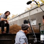 Matt being filmed on location at Maine Beer Company