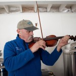 Paul Lorain playing some funky bow at Funky Bow Brewery