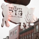 The coolest sign in Portland at The Thirsty Pig